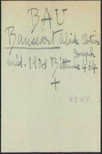 Alcide BAUSSART, fiche de la Croix-Rouge française