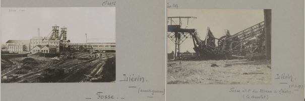 Mine de Liévin avant et après 1GM