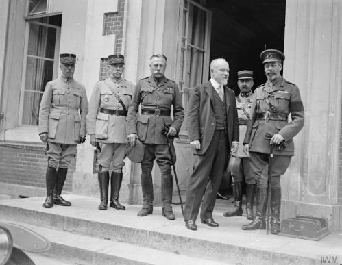 Le roi George V, le président Poincaré, le Maréchal Douglas Haig