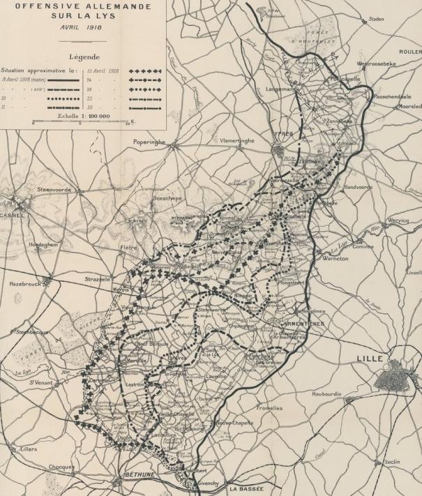 Offensive allemande d' avril 1918. Flandres