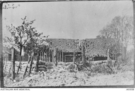 Ruine et tranchée, Fleurbaix (62), 1GM