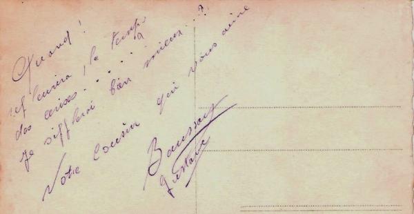 Ecrit Gustave BAUSSART 1929