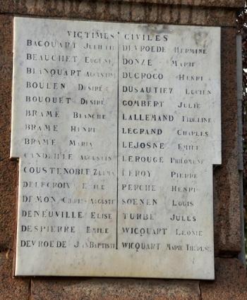 Victimes civiles, Fleurbaix (62)