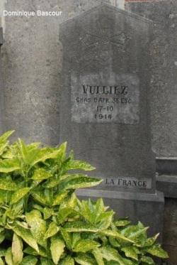 Sépulture du soldat VULLIEZ-SERMET 1914