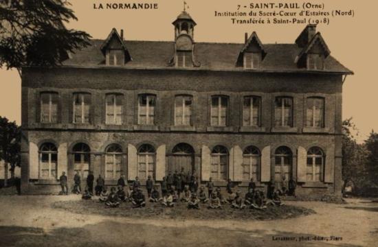 Collège d'Estaires (59) réfugié en Normandie 1918