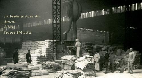 La batteuse à sac de farine, Dunkerque, 1GM