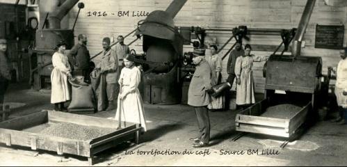 La torréfaction du café, Dunkerque, 1GM