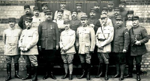 les officiers, Dunkerque, 1GM
