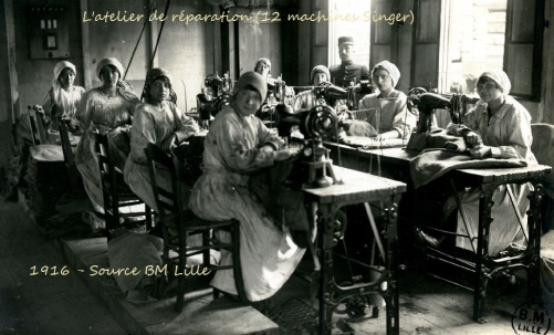 L'atelier de réparation, Dunkerque, 1GM
