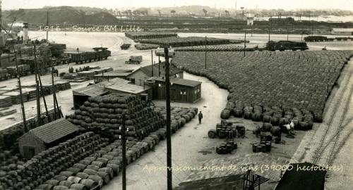 Approvisionnement de vins, Dunkerque, 1GM