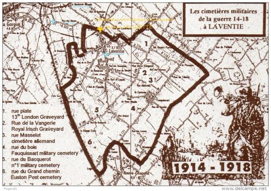 Cimetières militaires Laventie, après la guerre 14-18