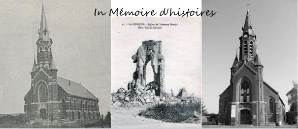 Eglise du Nouveau Monde La Gorgue, avant, pendant, après guerre