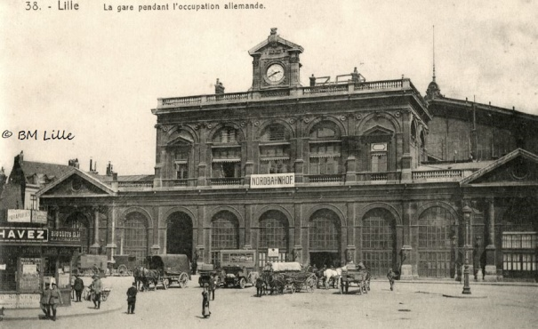 Lille gare, sous occupation allemande.