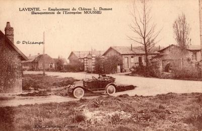 Emplacement du château DUMONT dynamité 1GM, Laventie