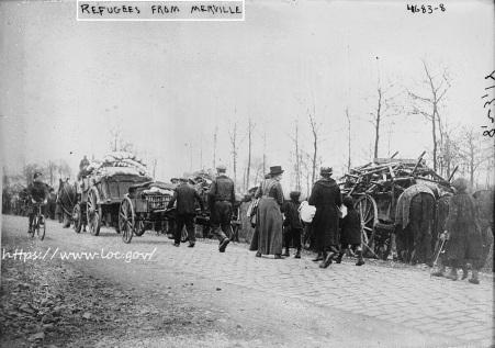Réfugiés de Merville (Nord) - 1918