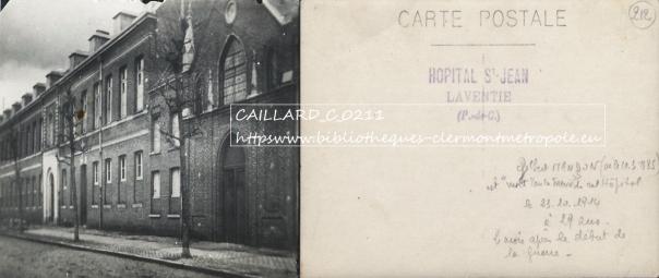 Hôpital Saint-Jean, Laventie (62) - Soldat Mort pour la France
