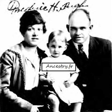 Soldat américain, son épouse française, sa fille, 1921