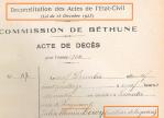 Reconstitution des actes de l'état civil –Laventie