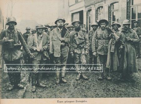 Bataille de la Lys 1918 - Prisonniers portugais dans le Nord de la France